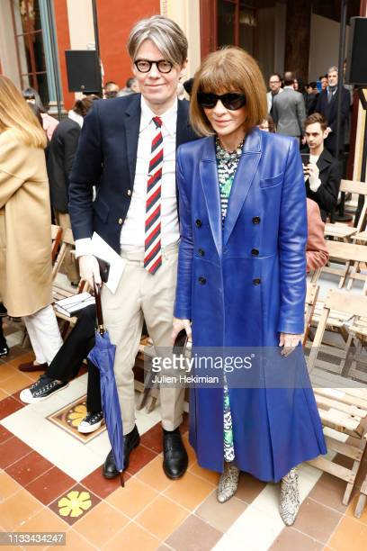 Anna Wintour attends the Thom Browne show as part of the Paris Fashion Week Womenswear Fall/Winter 2019/2020 on March 03 2019 in Paris France