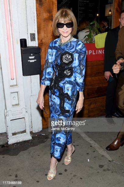 Anna Wintour attends the Tom Ford arrivals during New York Fashion Week on September 09, 2019 in New York City.
