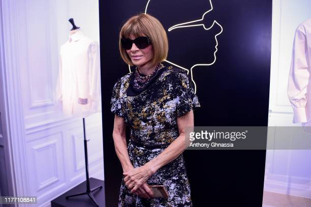 "Anna Wintour attends the ""Tribute to the Karl Lagerfeld: The White Shirt Project"" exhibition as part of Paris Fashion Week in Paris on September 25,..."