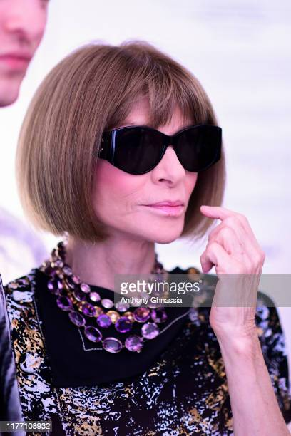 "Anna Wintour attends the ""Tribute to the Karl Lagerfeld The White Shirt Project"" exhibition as part of Paris Fashion Week in Paris on September 25..."