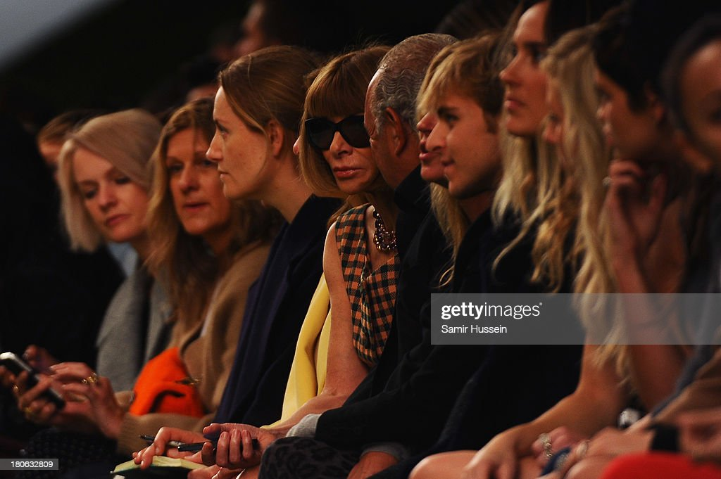 Anna Wintour attends the Unique show during London Fashion Week SS14 at TopShop Show Space on September 15, 2013 in London, England.