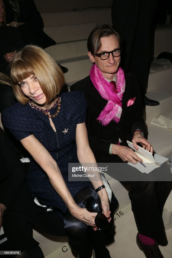 Anna Wintour attends the Valentino Fall/Winter 2013 Ready-to-Wear show as part of Paris Fashion Week on March 5, 2013 in Paris, France.