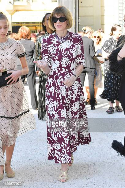 Anna Wintour attends the Valentino Haute Couture Fall/Winter 2019 2020 show as part of Paris Fashion Week on July 03 2019 in Paris France