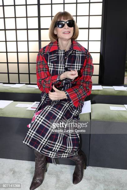 Anna Wintour attends the Valentino show as part of the Paris Fashion Week Womenswear Fall/Winter 2018/2019 on March 4 2018 in Paris France