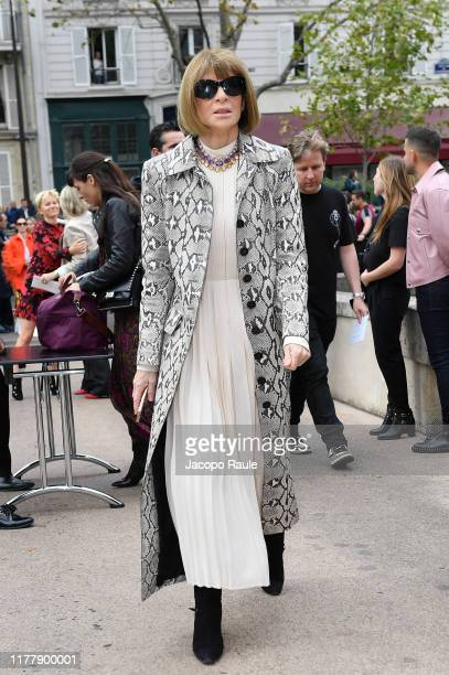 Anna Wintour attends the Valentino Womenswear Spring/Summer 2020 show as part of Paris Fashion Week on September 29, 2019 in Paris, France.