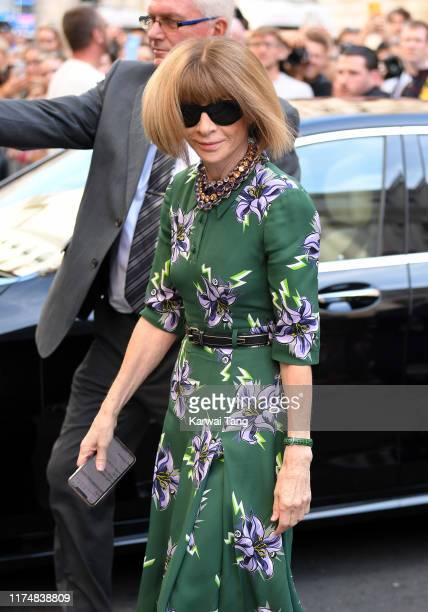 Anna Wintour attends the Victoria Beckham show during London Fashion Week September 2019 at the Foreign Office on September 15 2019 in London England
