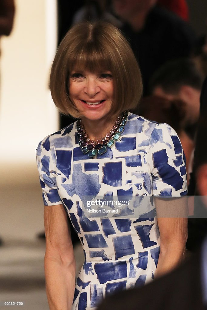 Anna Wintour attends the Victoria Beckham Spring/Summer 2017 fashion show during New York Fashion Week 2016 on September 11, 2016 in New York City.