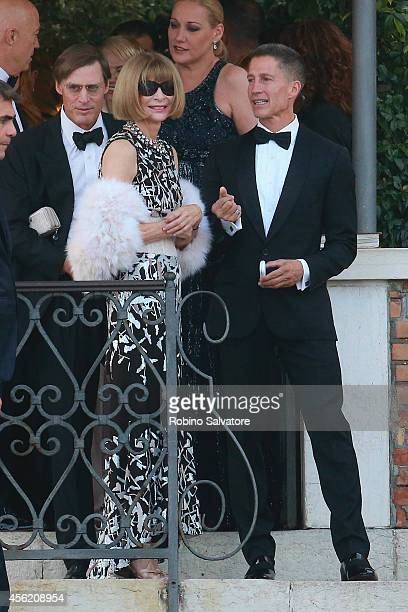 Anna Wintour attends the wedding party for the wedding of George Clooney and Amal Alamuddin on September 27 2014 in Venice Italy George Clooney is...