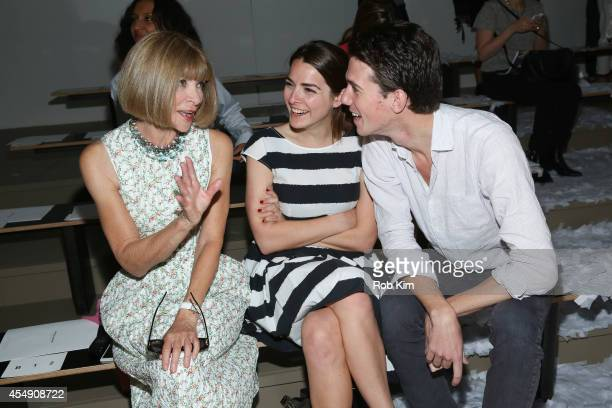 Anna Wintour Bee Shaffer and guest attend Public School during MADE Fashion Week Spring 2015 at Milk Studios on September 7 2014 in New York City