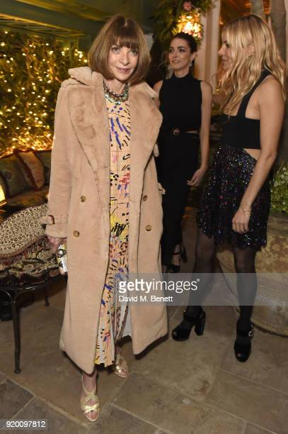 Anna Wintour Bee Shaffer and Sienna Miller attend as Tiffany Co partners with British Vogue Edward Enninful Steve McQueen Kate Moss and Naomi...