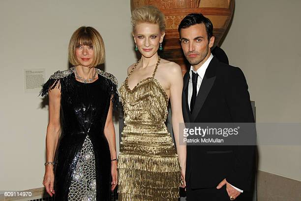 Anna Wintour Cate Blanchett and Nicolas Ghesquiere attend The COSTUME INSTITUTE Gala in honor of POIRET KING OF FASHION at The Metropolitan Museum of...