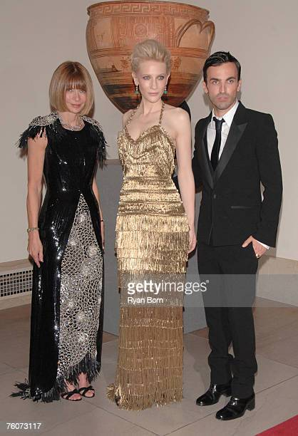 Anna Wintour Cate Blanchett and Nicolas Ghesquiere