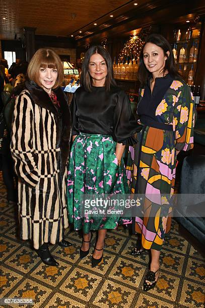 Anna Wintour Dame Natalie Massenet and Caroline Rush attend The Fashion Awards in partnership with Swarovski nominees' lunch hosted by the British...