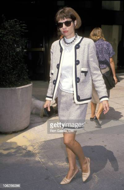 Anna Wintour during Anna Wintour Sighting at the Conde Nast Building August 21 1989 at Conde Nast Building in New York City New York United States