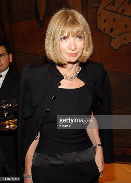 Anna Wintour during Dior Presents the 2007 Cruise Collection Dinner at Four Seasons in New York City New York United States