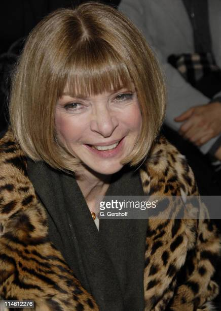 Anna Wintour during MercedesBenz Fashion Week Fall 2007 Donna Karan Front Row at 711 Greenwich Street in New York City New York United States