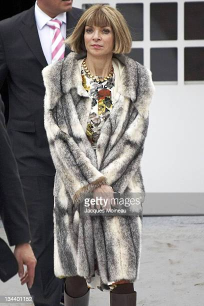 Anna Wintour during Paris Fashion Week Fall/Winter 2007 Christian Dior Arrivals in Paris France