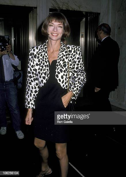 Anna Wintour during Tiffany's New Men's Fragrance Launch September 19 1989 at Tiffany's in New York City New York United States