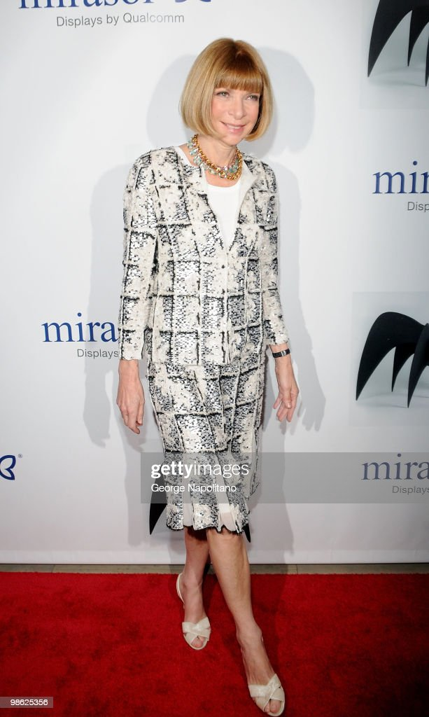 Anna Wintour, editor-in-chief of American Vogue, attends the 45th Annual National Magazine Awards at Alice Tully Hall, Lincoln Center on April 22, 2010 in New York City.