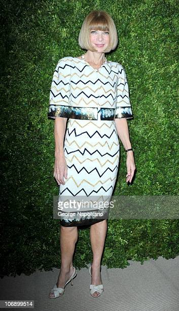 Anna Wintour editorinchief of American Vogue attends the 7th Annual CFDA/Vogue Fashion Fund awards>> at Skylight SOHO on November 15 2010 in New York...