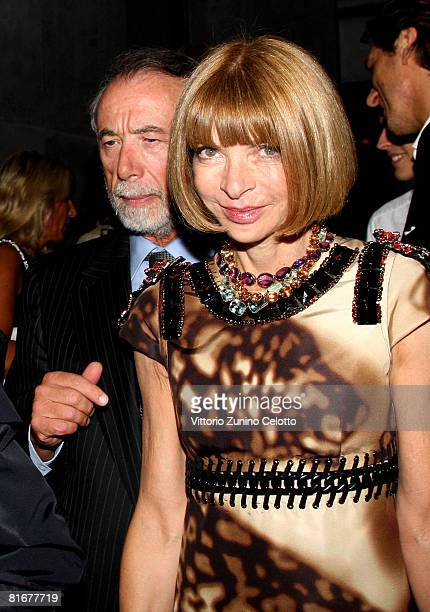 Anna Wintour editorinchief of American Vogue attends Tom Ford Boutique Opening during Milan Fashion Week Spring/Summer 2009 on June 23 2008 in Milan...