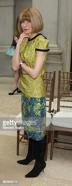 Anna Wintour Editorinchief of American Vogue attends'The Model As Muse Embodying Fashion' Costume Institute Gala press preview at The Metropolitan...