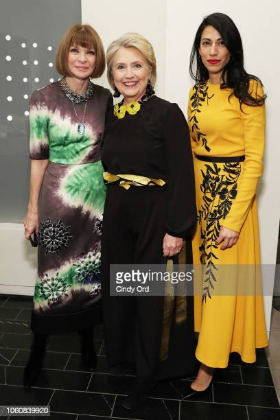 Anna Wintour, Hillary Clinton, and Huma Abedin pose backstage at the 2018 Glamour Women Of The Year Awards: Women Rise on November 12, 2018 in New...