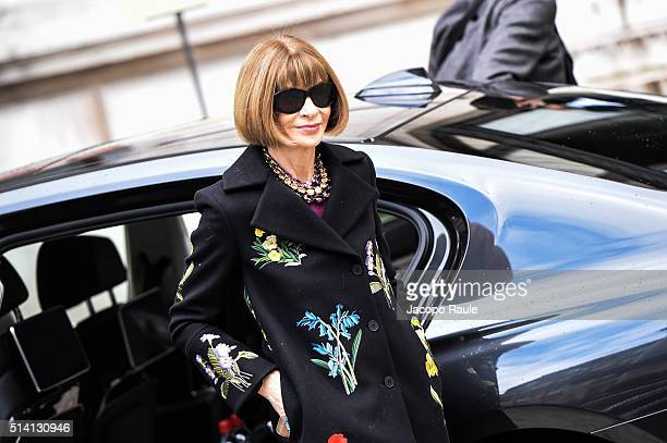 Anna Wintour is seen arriving at Stella McCartney fashion show during Paris Fashion Week Womenswear Fall Winter 2016/2017 on March 7 2016 in Paris...