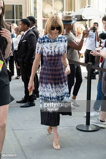 Anna Wintour is seen during New York Fashion Week The Shows at Skylight at Moynihan Station on September 13 2016 in New York City