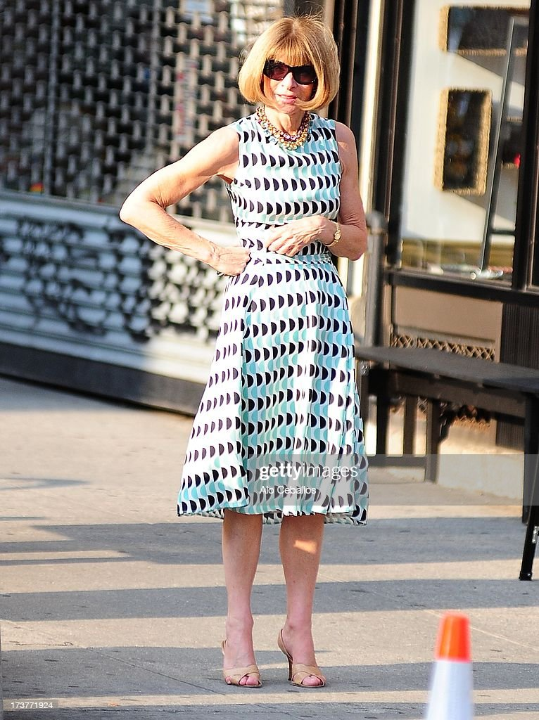 Anna Wintour is seen in Chelsea on July 17, 2013 in New York City.