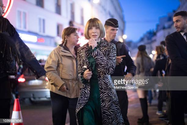 Anna Wintour is seen on the street during Paris Fashion Week SS19 wearing Gucci on September 24 2018 in Paris France