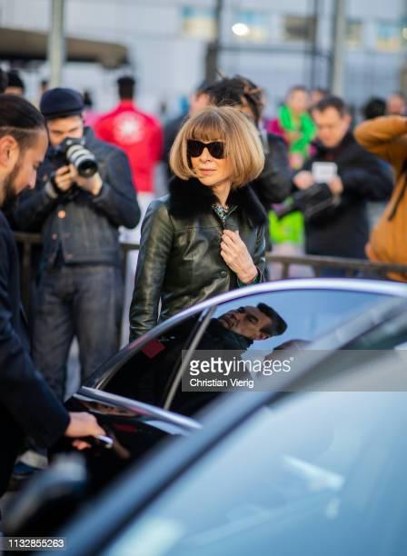 Anna Wintour is seen outside Chloe during Paris Fashion Week Womenswear Fall/Winter 2019/2020 on February 28 2019 in Paris France