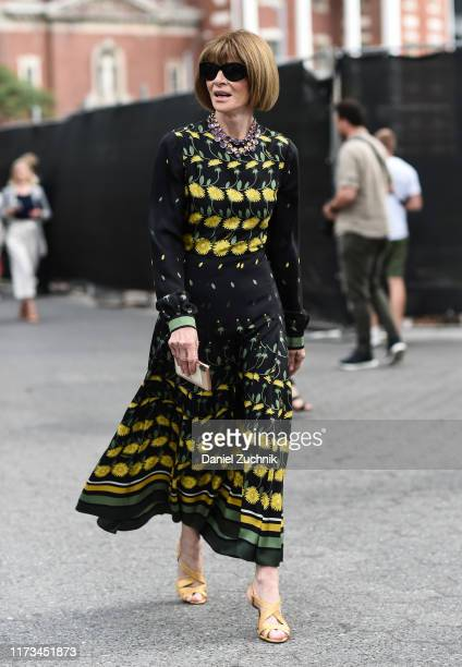 Anna Wintour is seen outside the Carolina Herrera show during New York Fashion Week S/S20 on September 09, 2019 in New York City.