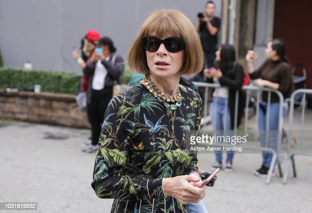 Anna Wintour is seen outside the Coach 1941 show during New York Fashion Week on September 11 2018 in New York City