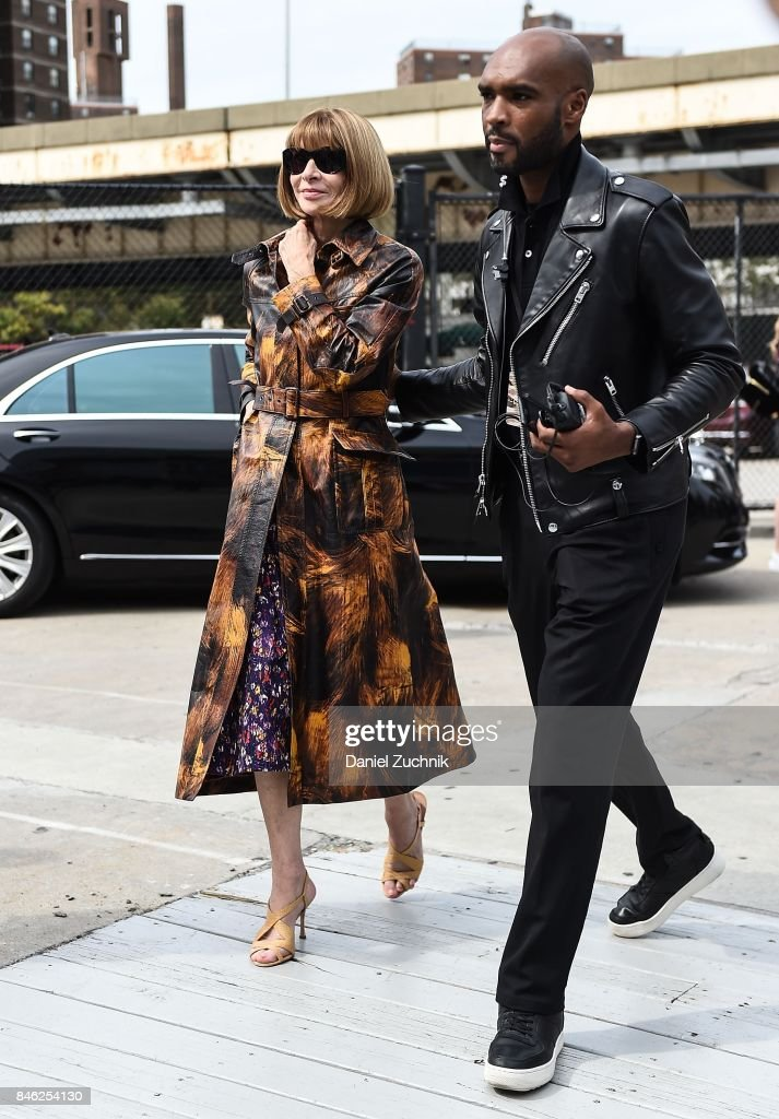 Anna Wintour is seen outside the Coach show during New York Fashion Week: Women's S/S 2018 on September 12, 2017 in New York City.