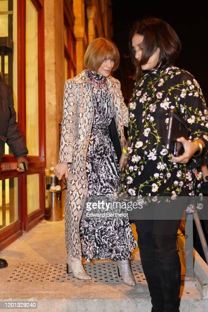 Anna Wintour is seen outside the JeanPaul Gaultier show during Paris Fashion Week Haute Couture Spring/Summer 2020 on January 22 2020 in Paris France
