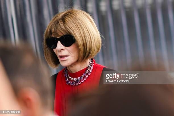 Anna Wintour is seen outside the Prada show during Milan Fashion Week Spring/Summer 2020 on September 18 2019 in Milan Italy