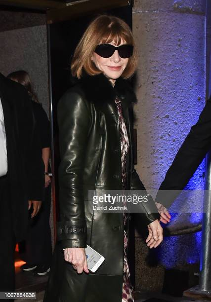 Anna Wintour is seen outside the Versace PreFall 2019 Collection on December 2 2018 in New York City