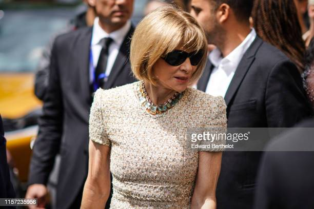 Anna Wintour is seen outside Vuitton during Paris Fashion Week Menswear Spring/Summer 2020 on June 20 2019 in Paris France