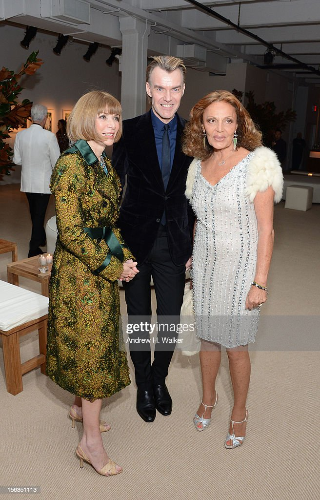 Anna Wintour, Ken Downing and Diane von Furstenberg attend The Ninth Annual CFDA/Vogue Fashion Fund Awards at 548 West 22nd Street on November 13, 2012 in New York City.