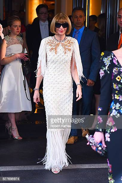 Anna Wintour leaves the Mark Hotel to attend the MET Gala on May 2 2016 in New York City