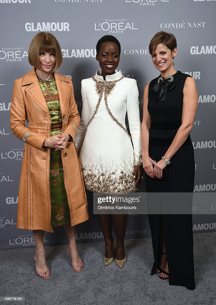 Anna Wintour, Lupita Nyong'o and Cindi Leive attend the Glamour 2014 Women Of The Year Awards at Carnegie Hall on November 10, 2014 in New York City.