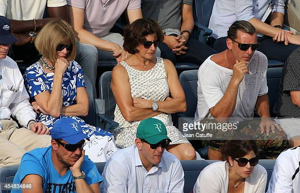 Anna Wintour Lynette Federer Gavin Rossdale attend the men's semi finals on Day 13 of the 2014 US Open at USTA Billie Jean King National Tennis...