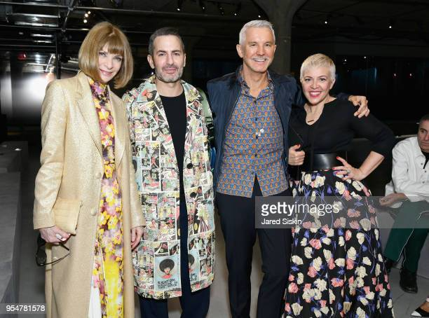 Anna Wintour Marc Jacobs Baz Luhrmann and Catherine Martin attend the Prada Resort 2019 fashion show on May 4 2018 in New York City