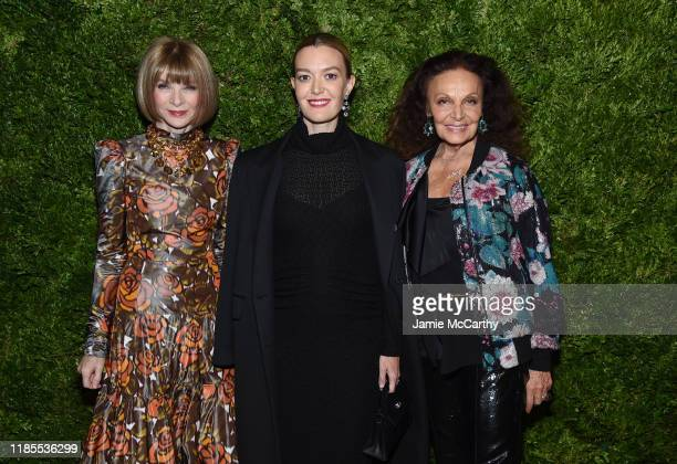 Anna Wintour, Marta Ortega and Diane von Furstenberg attend the CFDA / Vogue Fashion Fund 2019 Awards at Cipriani South Street on November 04, 2019...
