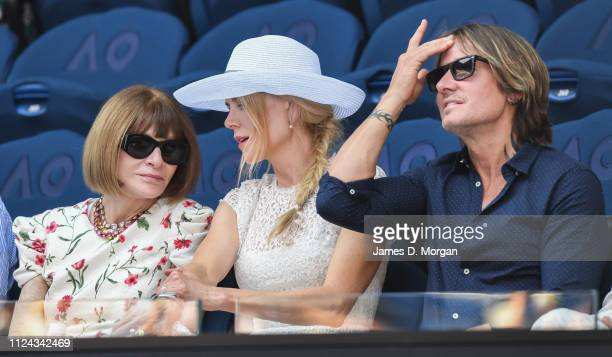 Anna Wintour Nicole Kidman and Keith Urban as they attend the 2019 Australian Open at Melbourne Park on January 24 2019 in Melbourne Australia