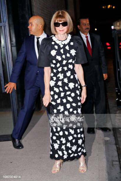 Anna Wintour on October 16 2018 in New York City