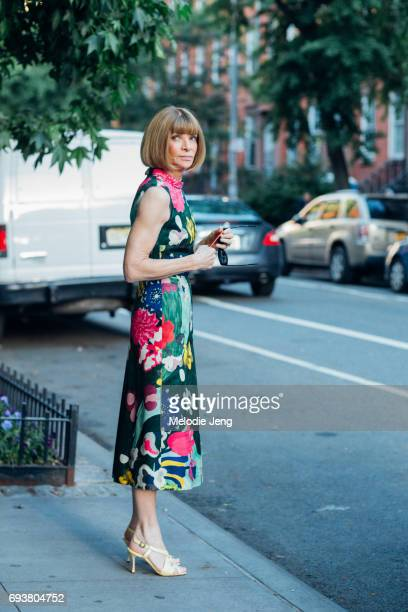Anna Wintour outside the Stella McCartney Spring 18 presentation on June 8 2017 in New York City