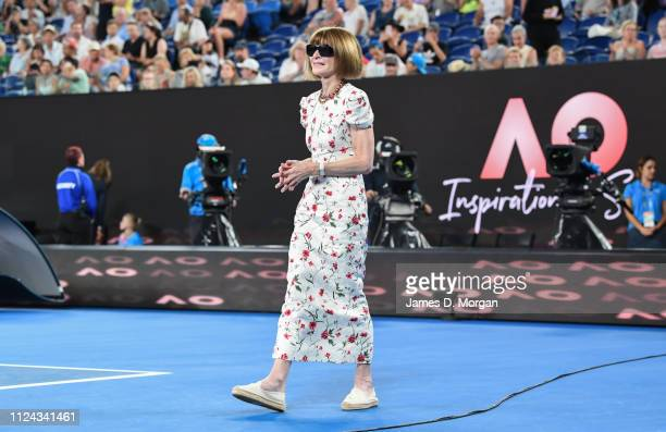 Anna Wintour receives the Australian Inspiration for 2019 as she attends the 2019 Australian Open at Melbourne Park on January 24 2019 in Melbourne...