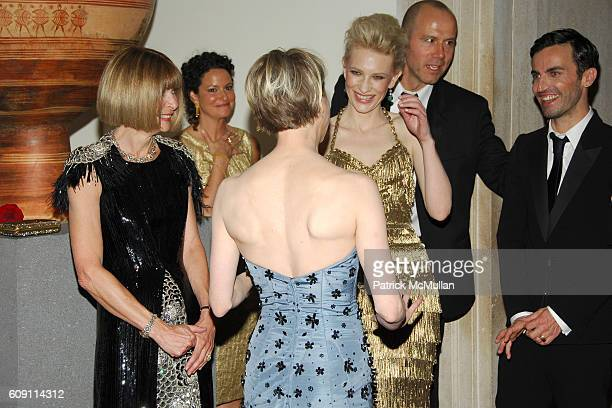 Anna Wintour Renee Zellweger Cate Blanchett and Nicolas Ghesquiere attend The COSTUME INSTITUTE Gala in honor of POIRET KING OF FASHION at The...